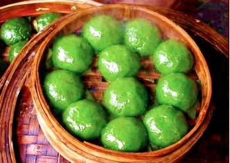 qing tuan green dumpling